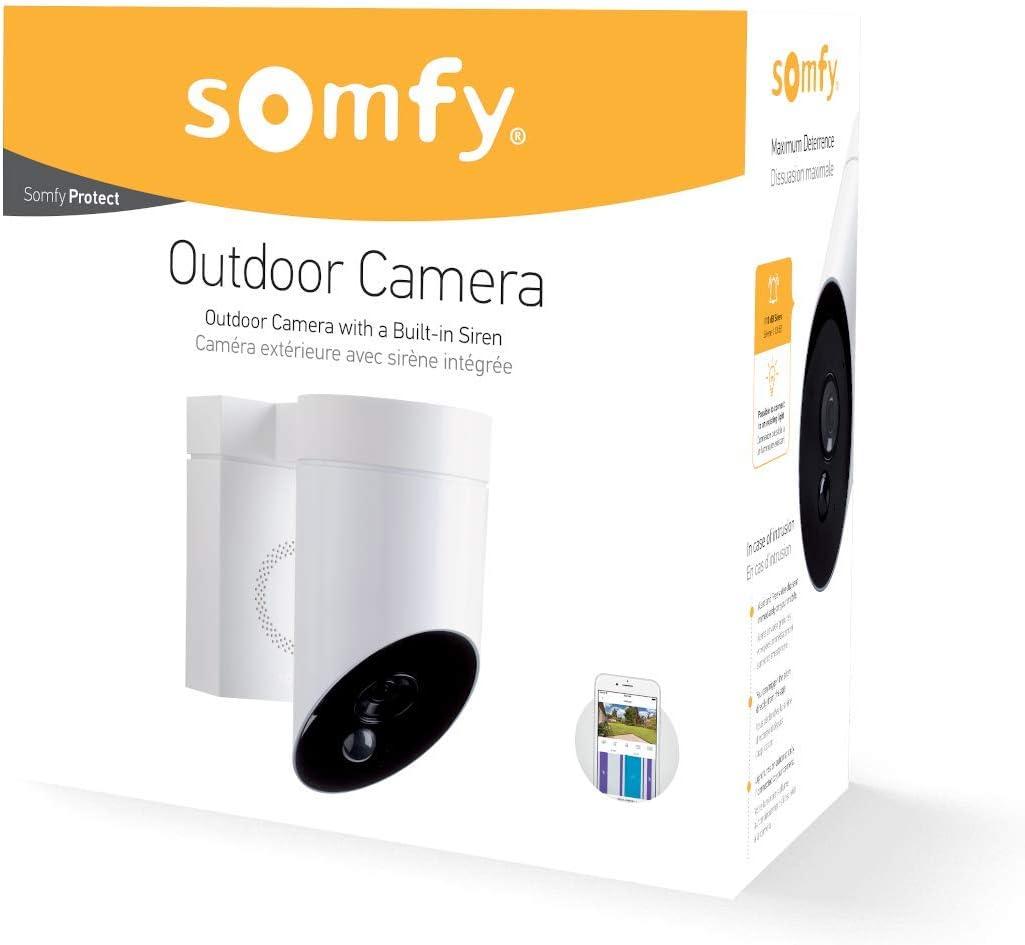 Somfy 2401560 Smart Home Außenkamera Überwachungskamera Full Hd Kamera Mit Nachsicht Integrierte Sirene Mit 110 Db Bewegungserkennung Weiß Baumarkt