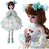 UCanaan 23.6'' BJD SD Doll 19 Ball Joints Dolls with Clothes Outfit Shoes Wig Hair Makeup for Girls Gift and Dolls Collection-Monica