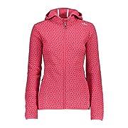 CMP Damen Knitted Jacquard Jacket With Print Fleece Jacket
