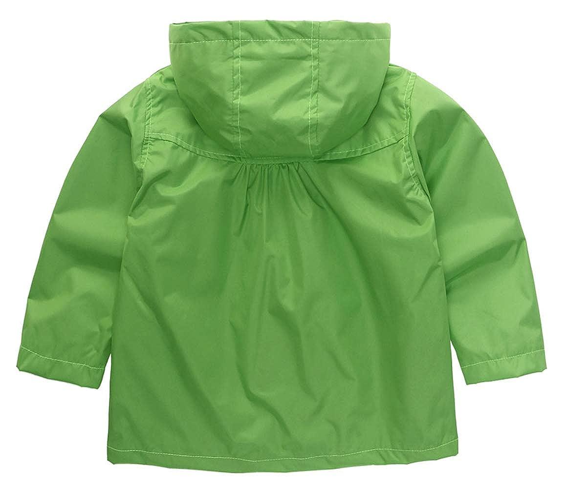 Wamvp M/ädchen Regenjacke Trenchcoat Outdoorjacke f/ür Kinder Winddicht Regenfest Mit Kapuze Doppelschicht Blumenmuster