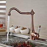 Rozin Antique Copper Single Lever Kitchen Sink Faucet Swivel Spout Mixer Tap