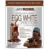 Jay Robb Chocolate Egg White Protein Powder, Low Carb, Keto, Vegetarian, Gluten Free, Lactose Free, No Sugar Added, No Fat, N