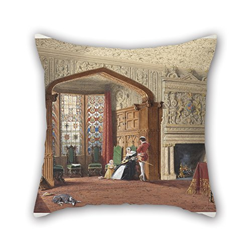 Pillow Covers 18 X 18 Inches / 45 By 45 Cm(double Sides) Nice Choice For Family Girls Lounge Drawing Room Outdoor Kids Oil Painting Joseph Nash The Elder - An Elizabethan Room At Lyme Hall, Cheshir (Elizabethan Five Light)
