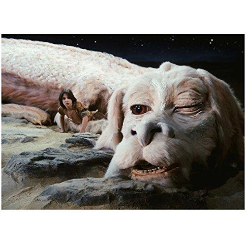 The NeverEnding Story Noah Hathaway as Atreyu Waking Up Next to Falcor 8 x 10 inch photo
