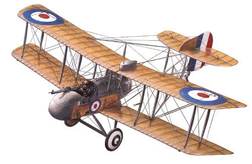 Roden Airco DH-2 Biplane Pusher Airplane Model Kit