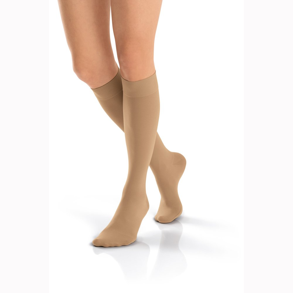 BSN Medical 115707 Jobst Opaque Compression Hose, Knee High, 30-40 mmHg, Closed Toe, Large, Espresso by BSN Medical