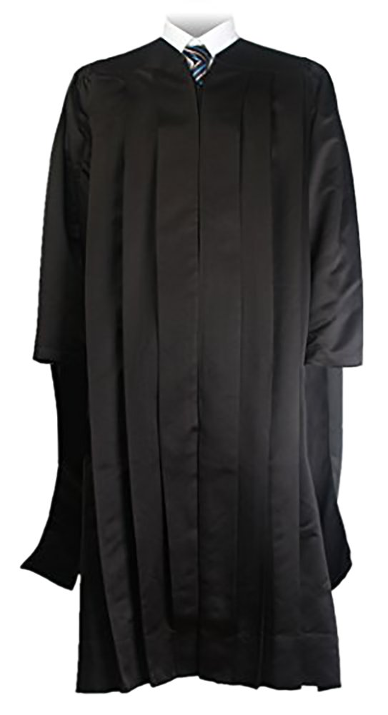 GraduationMall Unisex Deluxe Master Graduation Gown Tam Tassel Package Black Large 51(5'3''-5'5'')