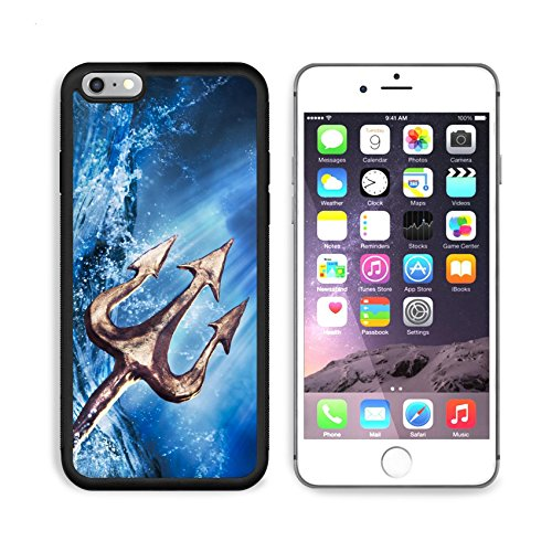 MSD Premium Apple iPhone 6 Plus iPhone 6S Plus Aluminum Backplate Bumper Snap Case Poseidon s trident emerging from the sea Photo composite IMAGE 28047431 by MSD Customized Premium ()