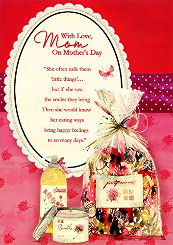 Glitter Mirror, Lotion, Candle and Potpourri: Mom - Designer Greetings Mother's Day Card