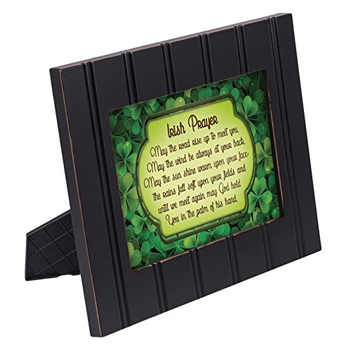 Irish Blessing Green Shamrocks 8x10 Black Framed Art Wall Plaque Sign ()