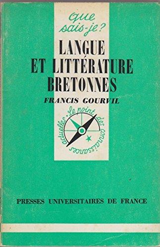 [Que sais-je] Langue et littérature bretonnes