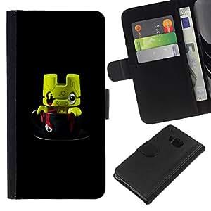All Phone Most Case / Oferta Especial Cáscara Funda de cuero Monedero Cubierta de proteccion Caso / Wallet Case for HTC One M7 // Cute Monster Toy 3D Figurine