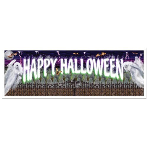Happy Halloween Sign Banner 5ft. x 21in. 1/Pkg, Pkg/1