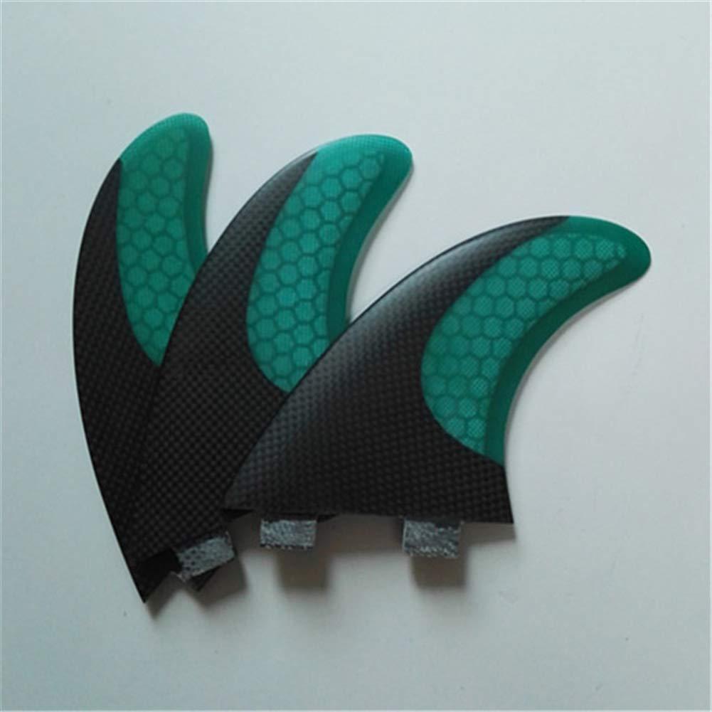 ONCEFIRST Fibreglass Surfboard Fins Thruster FCS G5 (3 Fins) Dark Green M