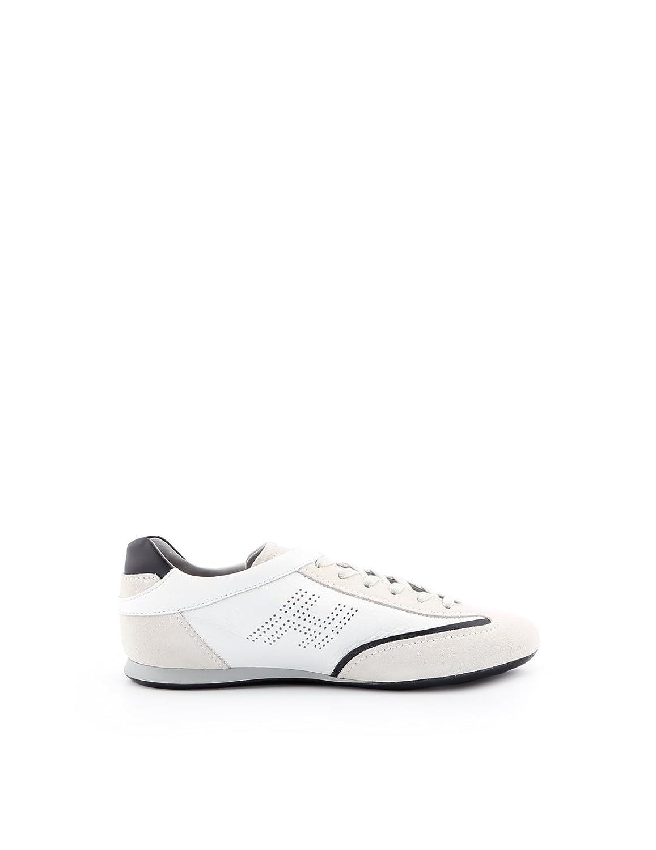 Hogan メンズ HXM0520G752IFW0PBV ホワイト セーム 運動靴 B07FG9LDL1