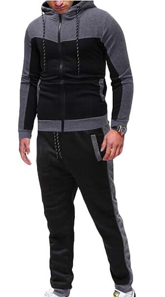 Amazon.com: SELX - Conjunto de traje deportivo para hombre ...