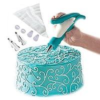Kit de pluma de decoración de pastel de cocina Lesirit (azul)