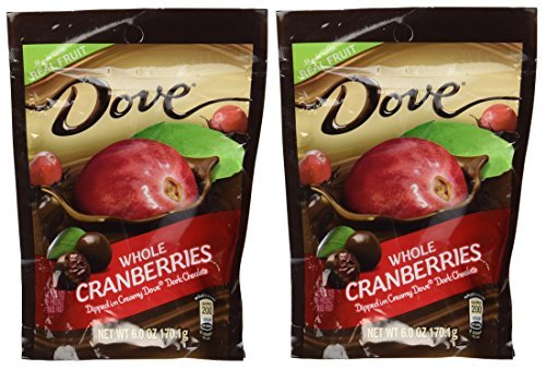 - Dove Whole Cranberries in Dark Chocolate, 6 oz - 2 Pack