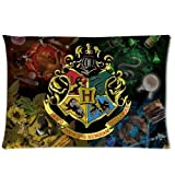 Custom Harry Potter Pillowcase 20x36 Rectangle Soft Cotton Zippered Pillow Case Two Sides Pattern Printed