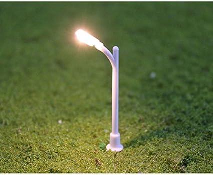 20pcs N Scale 1:150 Model Street Lights Lamppost Single Head Light Model Layout