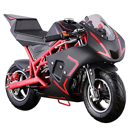 Pocket Bike Mini Motorcycle 4 Stroke Gas Power (RED)