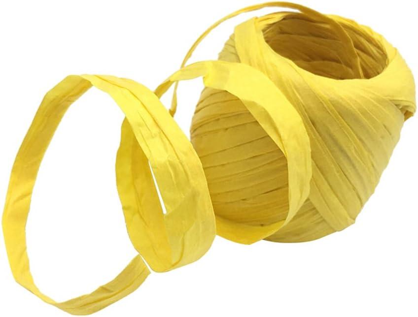 20m Carta Di Rafia Nastro Corda Naturale Regalo Di Caramelle Imballaggio Scrapbooking Artigianato Di Compleanno Festa Decorazione giallo