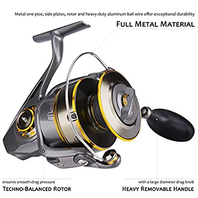 Saltwater Spinning Reel with Corrosion Resistant, Max 50 lbs Drag is Ideal for Surf Fishing, Offshore Fishing | to Battle Hard-pulling Fish
