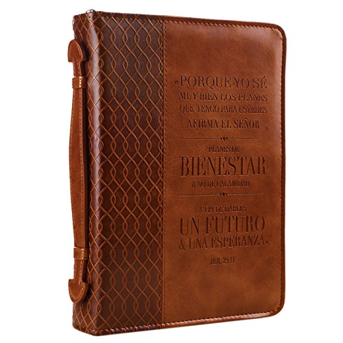 Jeremiah 29:11 Two-tone Bible / Book Cover - Forro para Biblia (Large) (Spanish Edition) (English and Spanish Edition) ()