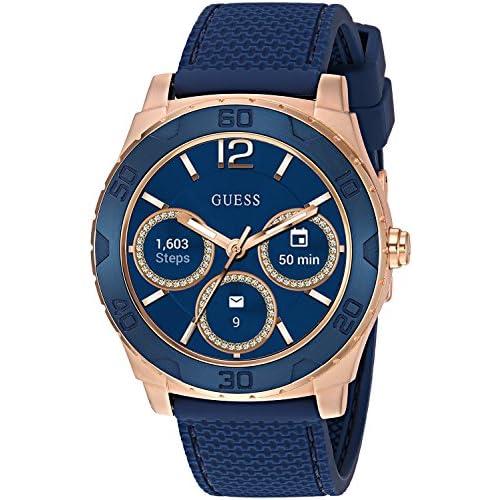 chollos oferta descuentos barato Guess Ace Mens Touch AMOLED Reloj Inteligente Color Azul Rosa y Dorado