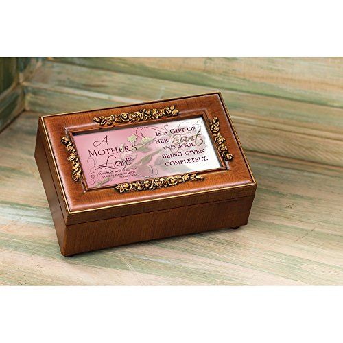 Cottage Garden Mother's Love Inspirational Decorative Woodgrain Rose Music Box - Plays How Great Thou Art by Cottage Garden (Image #4)