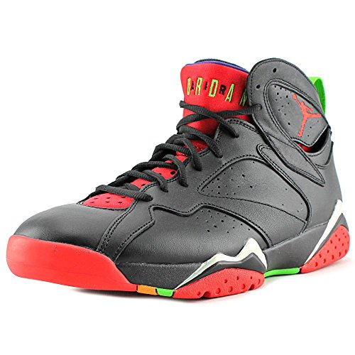 Jordan mens Air Jordan 7 Retro Black/green Pulse/ Cool Grey/University  304775-029 11
