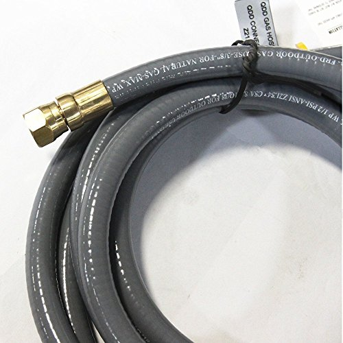 """Hongso HRTA1-2 Natural and Gas Hose Assembly for Low Appliance Thread 3/8"""" Male Flare"""