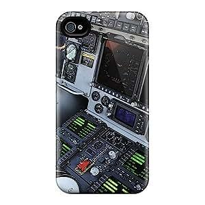 New Premium Flip Case Cover C 17 Cockpit Skin Case For Iphone 4/4s by icecream design