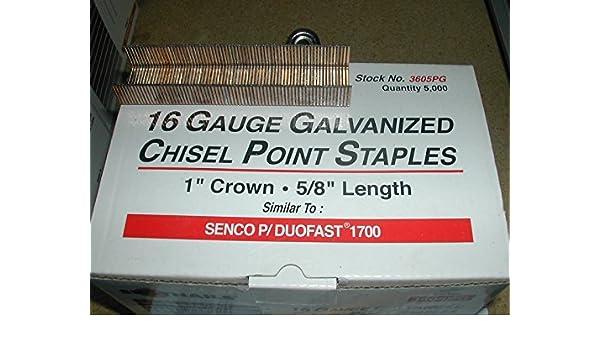 5,000 Spotnails 3606PG Wide Crown Staples Senco P Wire Type 3//4