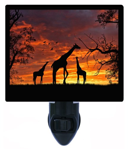 Night Light - Giraffes at Sunset - Africa - Giraffe - LED NIGHT LIGHT by Night Light Designs