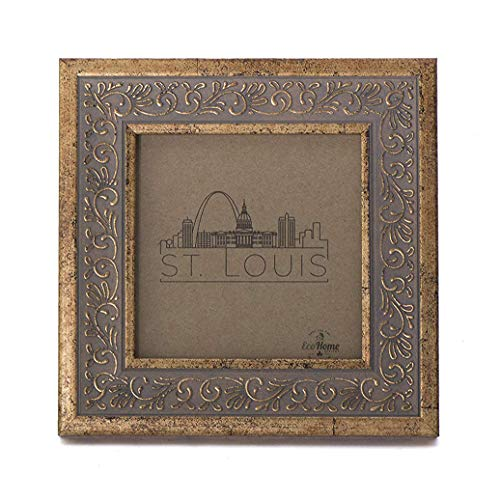 4x4 Picture Frame Antique Gold - Mount Desktop Display, Instagram Prints Frames by EcoHome