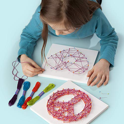 51vXsabos4L - Craft-tastic – Peace Sign String Art Kit – Craft Kit– Arts and Crafts for Tweens and Teens l Makes 3 Large String Art Canvases – Easy to Use – Ages 10+