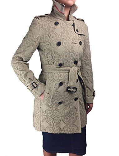Burberry London Lace Kensington Trench Coat Jacket Honey - Lace Burberry