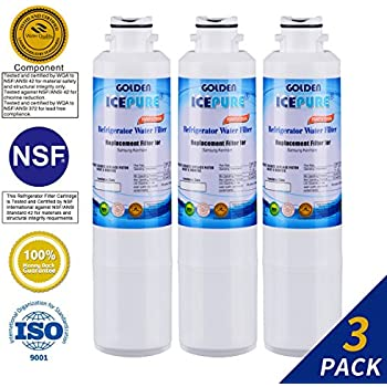 Golden Icepure DA29-00020B Refrigerator Water Filter Replacement for Samsung DA29-00020B, DA29-00020A, HAF-CIN/EXP, 46-9101 (3-Pack)