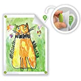kids art display hanger - GoodHangups for Kids Art Damage Free Magnetic Hangers Reusable Works on Any Wall As Seen On Shark Tank 8 Pack