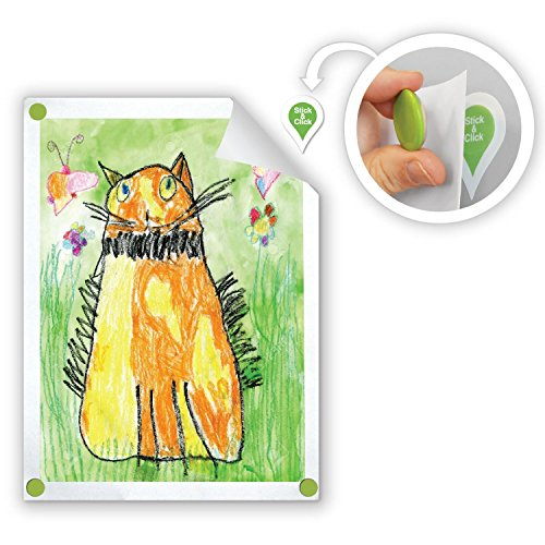 GoodHangups for Kids Art Damage Free Magnetic Hangers Reusable Works on Any Wall As Seen On Shark Tank 8 Pack (Best Way To Put Up Posters Without Damaging Them)