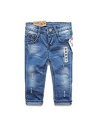 Kidscool Girls Ripped Holes Stretchy Denim Slim Soft Jeans
