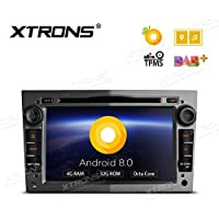 XTRONS Grey 7 Android 8.0 Octa Core 4G RAM 32G ROM HD Digital Multi-touch Screen DVR Car Stereo DVD Player Tire Pressure Monitoring Wifi OBD2 for Opel Corsa D Antara Vectra