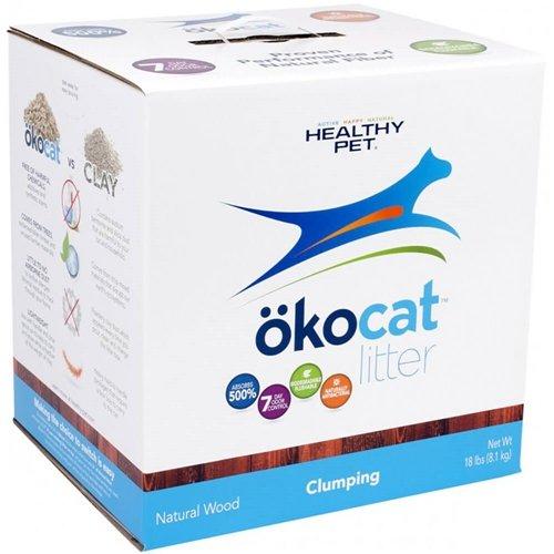 51vXtAD6WYL - Healthy Pet ökocat Natural Wood Cat Litter, Clumping