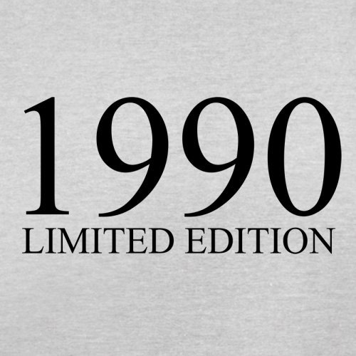 1990 Limierte Auflage / Limited Edition - 27. Geburtstag - Herren T-Shirt - Hellgrau - XXXL