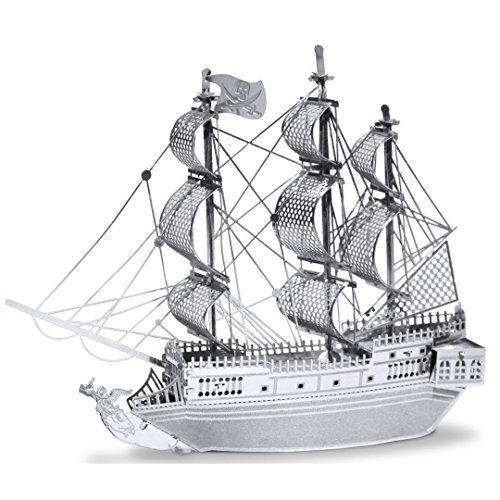 Metal Earth - 5061012 - Maquette 3D - Bateaux - Bateau Pirate La Perle Noire - 9,91 x 7,92 x 1,78 cm - 2 pièces