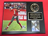 Jameis Winston Tampa Bay Buccaneers Collectors Clock Plaque w/8x10 Action Photo and Card