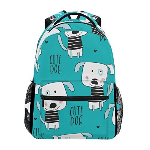 BETTKEN Cute Animal Dog Backpack Travel School College Book Bag Shoulder Bag Camping Hiking Laptop Daypack ()