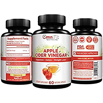 Amazon.com: 100% ALL-Natural Apple Cider Vinegar Capsules