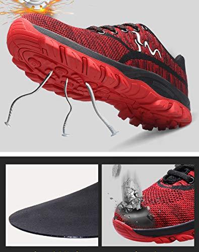 Acero Comodas Zapatillas Zapatos Entrenador tone Zapatillas Hombre Unisex Unisex Seguridad Deportivos Ali Mujer Rojo02 con Puntera ranspirables Senderismo Ligeras Trabajo de de de S3 de Antideslizante vqt7gxw